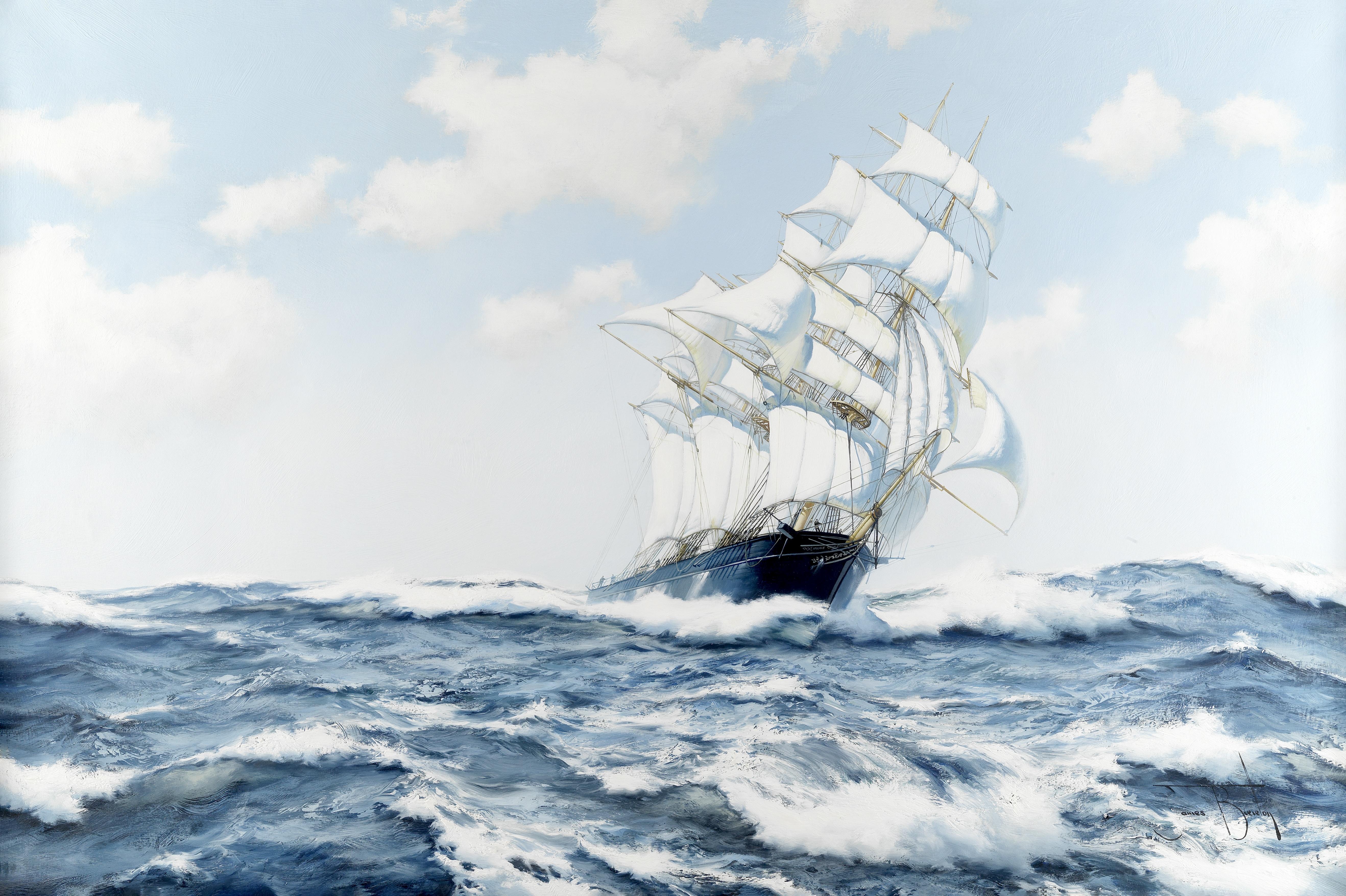 James Brereton (British, born 1954) 'Summer Seas - The Norman Court'