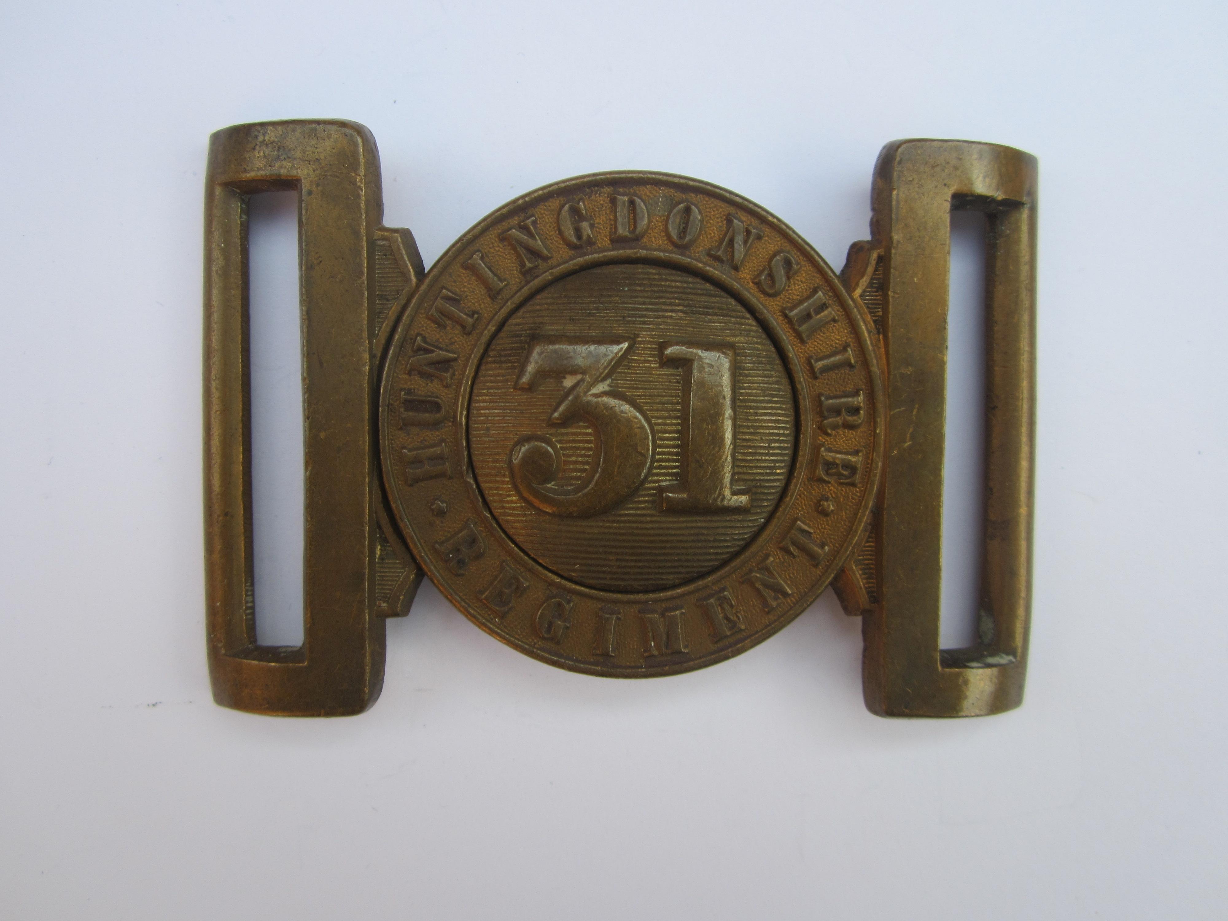 31st (Huntingdonshire) Regiment Other Ranks Waist Belt Clasp 1855-1871,