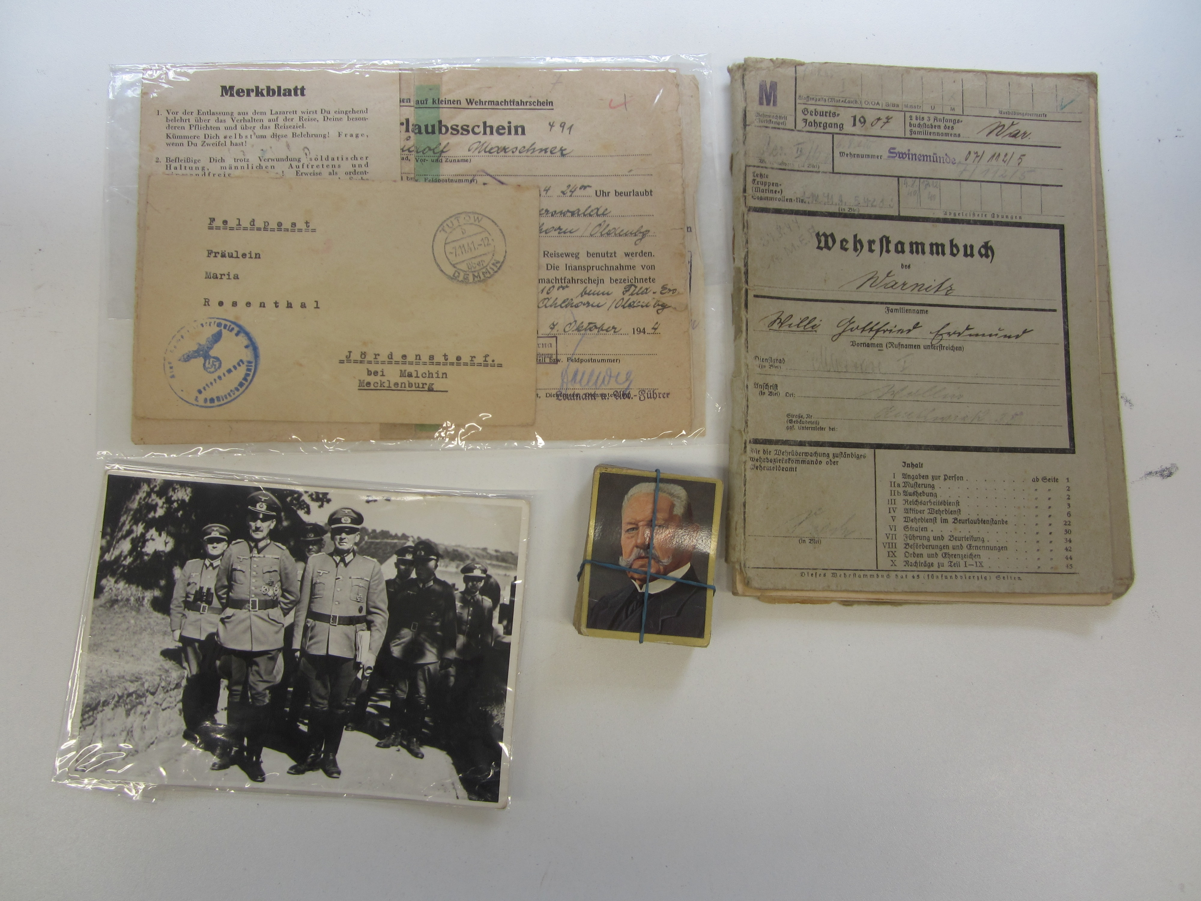 Assorted German Paperwork and Photographs,