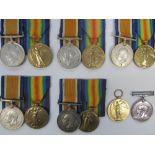British War and Victory Medal Pairs,