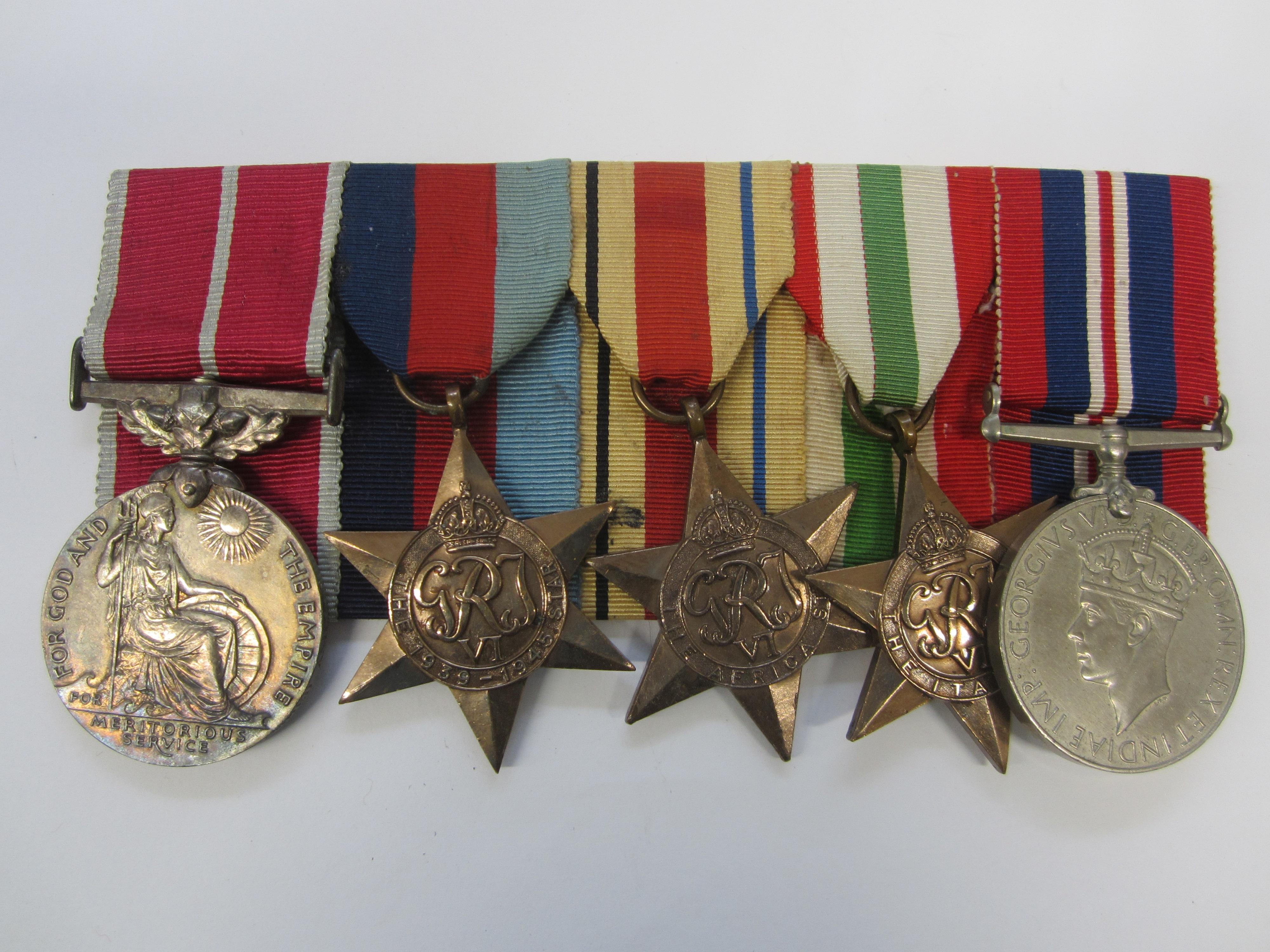 A Second World B.E.M. group of five Havildar M.Ashraf, Imperial Hospital Corps,