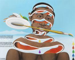 Chéri Samba (Democratic Republic of Congo, born 1956) J'aime la couleur (Accompanied by a ce...