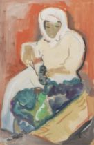 Irma Stern (South African, 1894-1966) Grape cutter