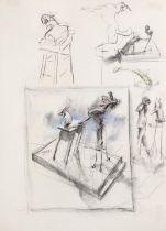 William Joseph Kentridge (South African, born 1955) Studies for sculpture sheet size: 100 x 70.5c...
