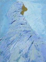 Ablade Glover (Ghanaian, born 1934) Woman in Profile (blue)