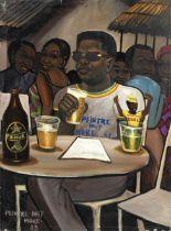 Monsengwo Kejwamfi 'Moke' (Democratic Republic of Congo, 1950-2001) A man in a cafe, probably a s...