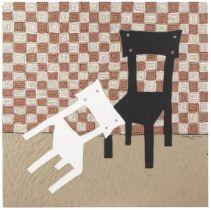 Ephrem Solomon (Ethiopian, born 1983) Untitled 2 (two chairs) ES06