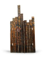 El Anatsui (Ghanaian, born 1944) Human Wall 184.5 x 95 x 35cm (72 5/8 x 37 3/8 x 13 3/4in).