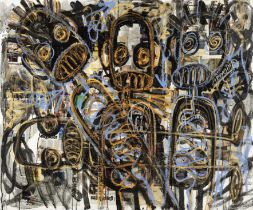 Aboudia Abdoulaye Diarrassouba (Ivorian, born 1983) Untitled, 2014