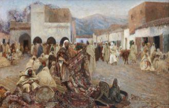 Paolo Antoine Simoni (Italian, 1882-1960) The carpet seller