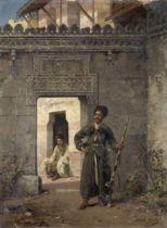 Stanislaus von Chlebowski (Russian-Polish, 1835-1884) The Circassian guards