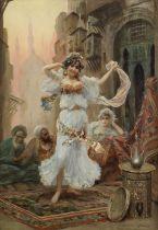 Fabio Fabbi (Italian, 1861-1946) Danseuse orientale (in a carved frame)