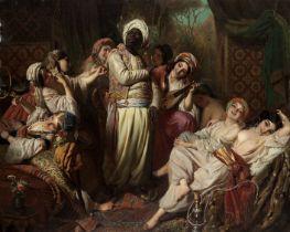 Henry Guillaume Schlesinger (French, 1814-1893) A harem interior