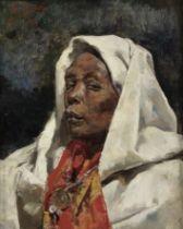 Tomás Muñoz Lucena (Spanish, 1860-1943) Portrait of an Arab lady