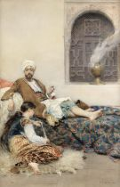 Gustavo Simoni (Italian, 1846-1926) The favourite