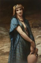 Charles Zacharie Landelle (French, 1812-1908) Fetching water 50 x 33 in (127 x 83.9cm)