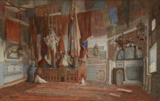 Jean Raymond Hippolyte Lazerges (French, 1817-1887) The Tomb of Sidi Abderrahmane Al-Thaalibi