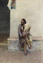 Maria Martinetti (Italian, 1864-1921) In the courtyard
