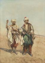 G. Zametti (Italian, 19th Century) Arab guards with rifles