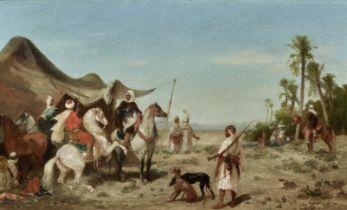 Georges Washington (French, 1827-1910) A desert encampment