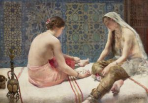 Paul Alexandre Alfred Leroy (French, 1860-1942) Les joueuses d'osselet