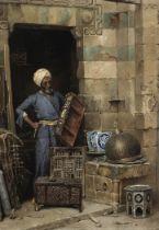 Ludwig Deutsch (Austrian, 1855-1935) The Woodworker