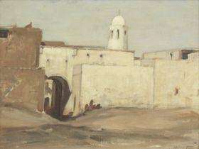 Robert Gibb RSA (British, 1845-1932) Mosque at Assouan