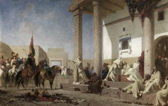 Eugène Fromentin (French, 1820-1876) Audience chez un Khalifat, Sahara