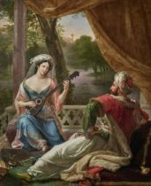 Alexandre Marie Colin (French, 1798-1875) The Sultan