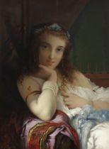 Pierre Olivier Joseph Coomans (Belgian, 1816-1889) Daydreams