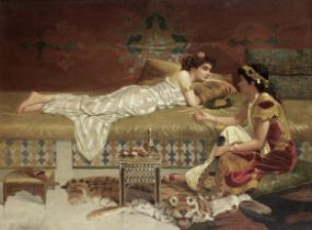 Vincent G. Stiepevich (Russian/American, 1841-1910) In the harem