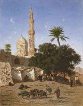 Narcisse Berchère (French, 1819-1891) Mosque Abou Leila, Cairo