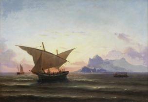 Niels Simonsen (Danish, 1807-1885) L'arrivée à Gibraltar