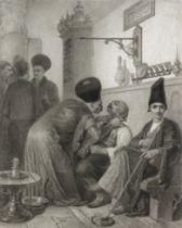 Alexandre Bida (French, 1813-1895) The Persian Barber