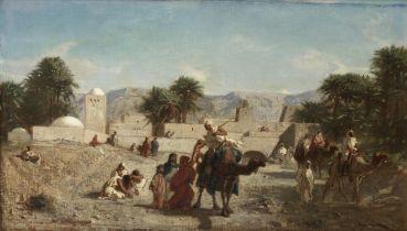 Eugène Fromentin (French, 1820-1876) Le depart des guerriers
