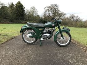 1960 Francis Barnett 150cc Plover Frame no. L-11883 (partially worn) Engine no. 15T7305