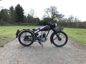 c.1947 Royal Enfield 125cc Frame no. RE16501 Engine no. G8013