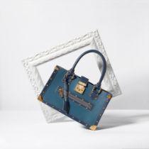 A BLUE SUHALI LEATHER LE FABULEUX BAG Louis Vuitton, 2003 (includes keys and cloche)
