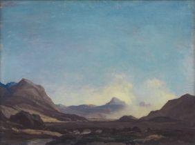 Sir David Young Cameron RA RSA RWS RSW RE (British, 1865-1945) The Heart of Skye 31.8 x 42 cm (12...