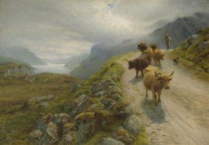 Joseph Farquharson RA (British, 1846-1935) To Valley Pastures, Loch Maree 71.1 x 101.6 cm. (28 x ...