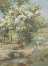 William Stewart MacGeorge, RSA (British, 1861-1931) The Thorn Tree 40.6 x 30.5 cm. (16 x 12 in.)