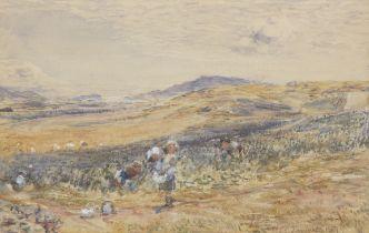 William McTaggart RSA RSW (British, 1835-1910) Bean Field at Cambletown 34.5 x 52 cm. (13 9/16 x ...