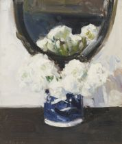 Francis Campbell Boileau Cadell RSA RSW (British, 1883-1937) Still Life with Ranunculus 44 x 37.5...