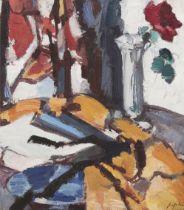 Samuel John Peploe RSA (British, 1871-1935) Red Rose, 1931 46.2 x 40.7 cm. (18 3/16 x 16 in.) (St...