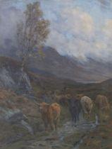 Charles Edward Stewart (Scottish, active 1887-1938) After the Rain 112 x 87 cm. (44 1/8 x 34 1/4 ...
