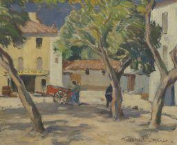 John Maclauchlan Milne RSA (British, 1886-1957) In Provence 51 x 61 cm. (20 1/16 x 24 in.)