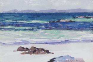 Francis Campbell Boileau Cadell RSA RSW (British, 1883-1937) North End of Iona 16.5 x 23.8 cm. (...