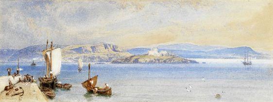 Myles Birket Foster, RWS (British 1825-1899) 'Queensferry' 10.2 x 27 cm. (4 x 10 5/8 in.)