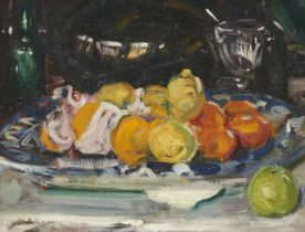 Francis Campbell Boileau Cadell RSA RSW (British, 1883-1937) Still Life with Oranges, Lemons and ...