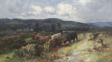 Joseph Denovan Adam, Jr. (Scottish, died 1935) Cattle amongst the gorse